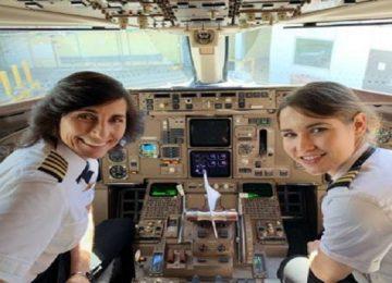 पायलट मां-बेटी ने उड़ाया