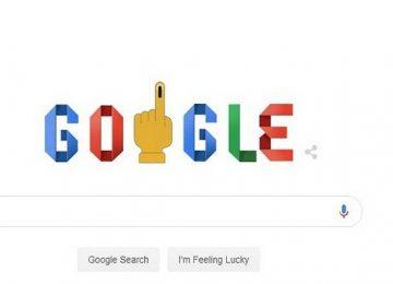 गूगल पर छाया भारत का चुनाव