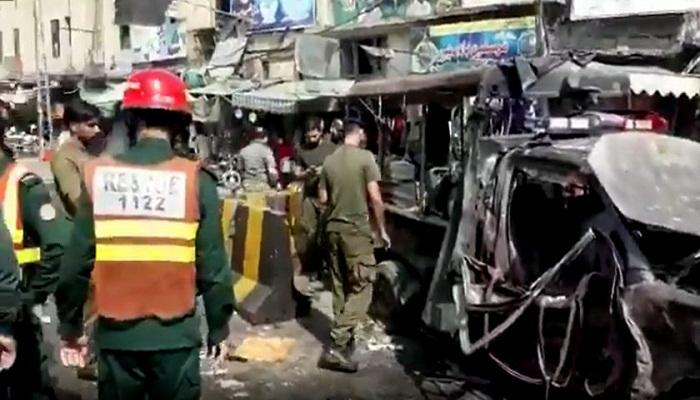 बम धमाका