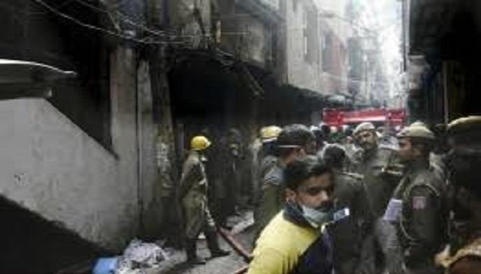 दिल्ली अनाज मंडी में आग