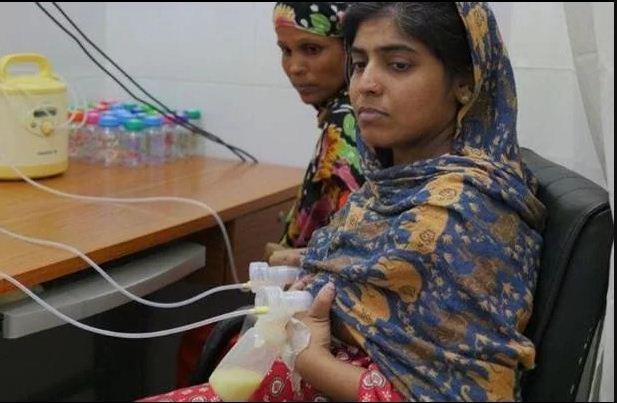 महिलाएं दान कर रही हैं अपना दूध