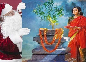 क्रिसमस पर तुलसी पूजन दिवस