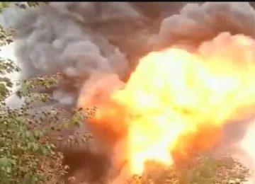 चेन्नई में तेल गोदाम में भीषण आग