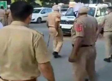 पंजाब पुलिस टीम पर हमला