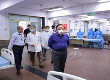 एलएनजेपी अस्पताल का औचक निरीक्षण