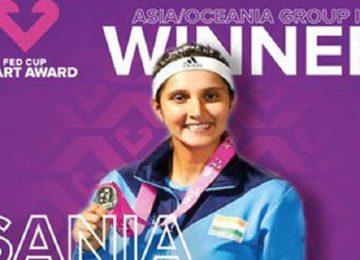भारत की टेनिस स्टार सानिया मिर्जा