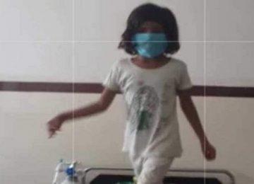 कोविड-19 पीड़ित एटा की ये बच्ची