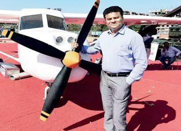 Captain Amol Yadav developing rooftop aircraft
