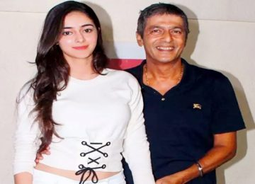 Chunky Pandey reacts to signing film daughter Ananya