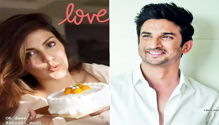Riya order cake on Sushant's house on June 12