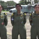Three navy women pilots
