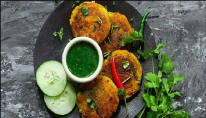potato cabbage tikki