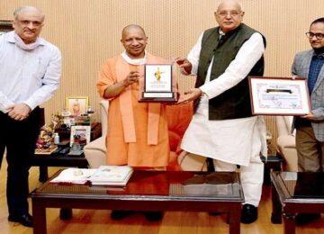 CM Yogi with surya pratap shahi