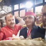 Akhilesh Yadav in vindhyachal