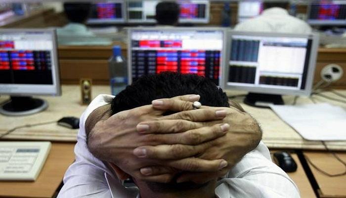 Sensex falls