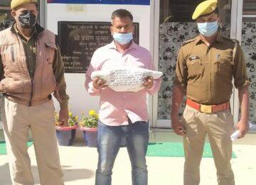 पुलिस ने चोरी के आरोप में युवक किया गिरफ्तार