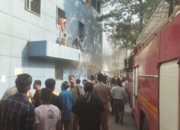 fire in kanpur Hospital
