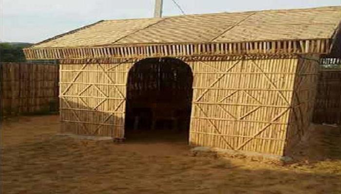 Bamboo House in Singhu Border