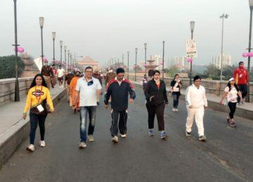 लखनऊ में हुआ साइकिल-वॉक-मैराथन एवं नुक्कड़ नाटक का आयोजन