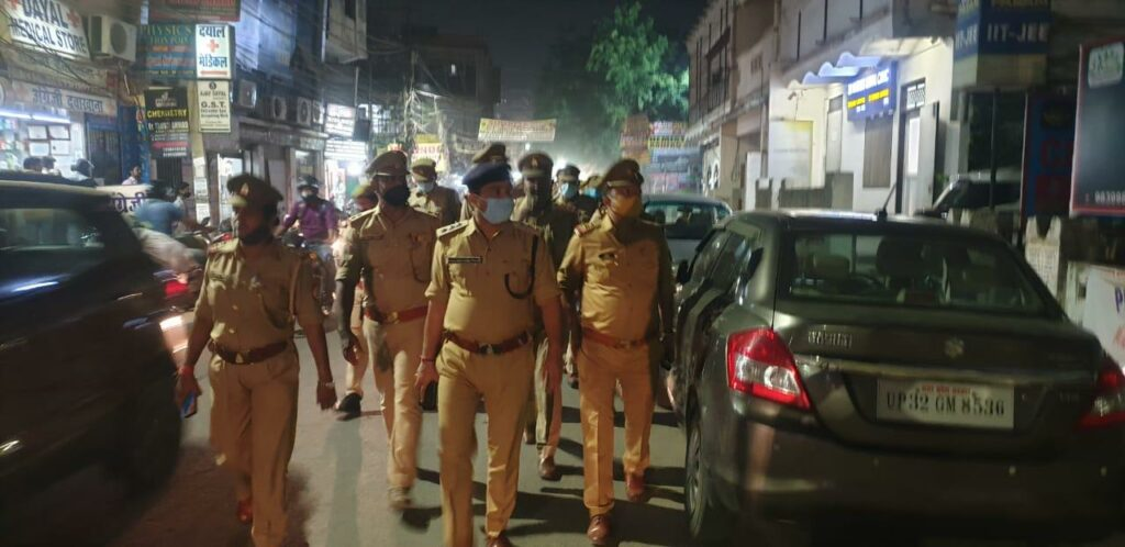 Police conduct checking campaign regarding upcoming festivals and covid19