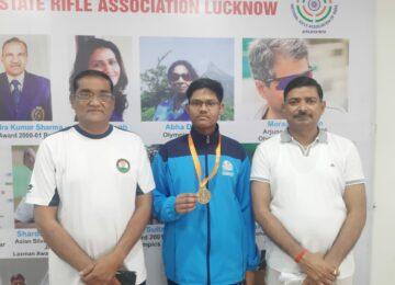 काकोरी निवासी मिहिर श्रीवास्तव ने यूपी स्टेट शूटिंग चैंपियनशिप में गोल्ड मैडल जीता