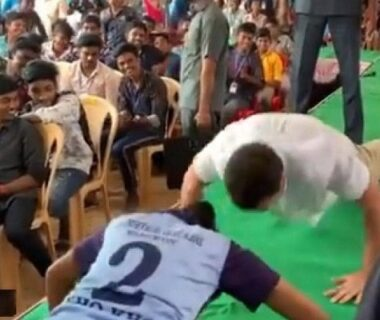 Rahul Gandhi did push ups in the program