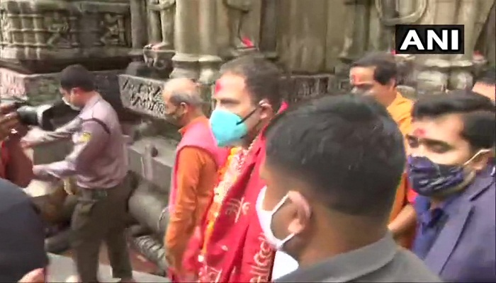 Rahul Gandhi in kamakhya Temple