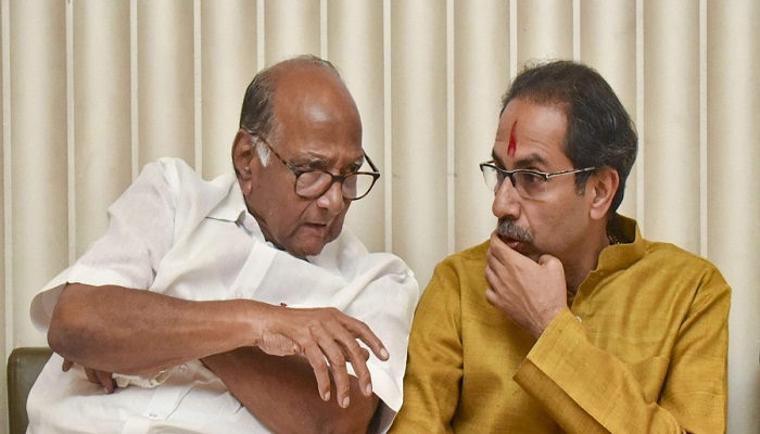 Uddhav with Sharad