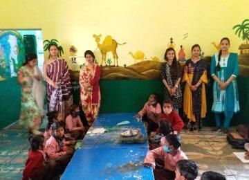 Women teacher in lakheempur