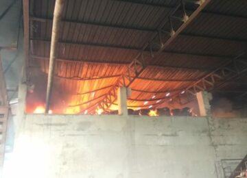 जेएमपी इंड्रस्टी में लगी भीषण आग