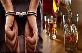 अवैध देशी शराब के साथ युवक को किया गिरफ्तार