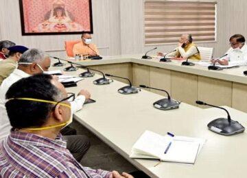 Cm Yogi holds meeting