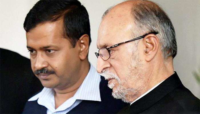 Kejriwal and LG Delhi