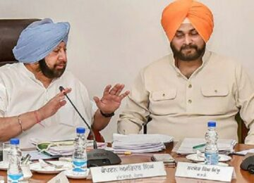 Siddhu With amrinder Singh