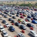 Traffic Jam on Loharli toll