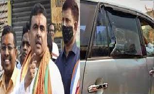 बंगाल में हुई चुनावी झड़प, शुभेंदु अधिकारी के काफिले पर हमला