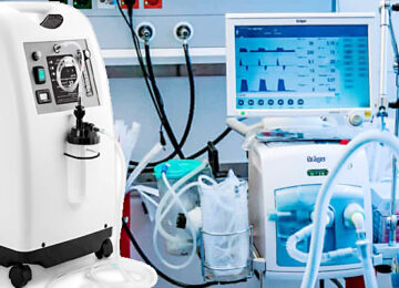 Oxygen concentrator and ventilator