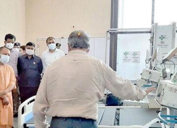 Yogi Visited DRDO Hospital